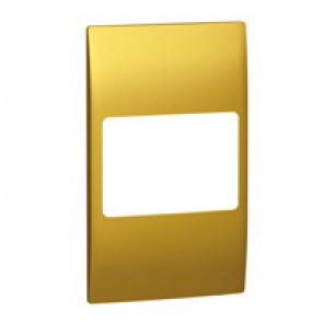 Plate Mallia - 2 gang vertical - brass