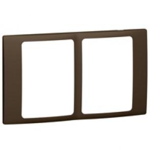 Plate Mallia - 2x1 gang - bronze