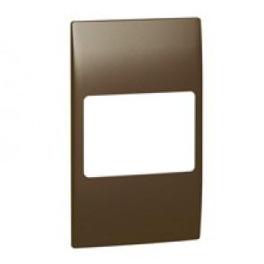 Plate Mallia - 2 gang vertical - bronze
