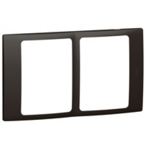 Plate Mallia - 2x1 gang - matt black
