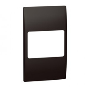 Plate Mallia - 2 gang vertical - matt black