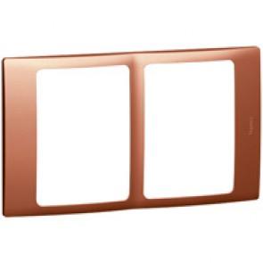 Plate Mallia - 2x1 gang - copper
