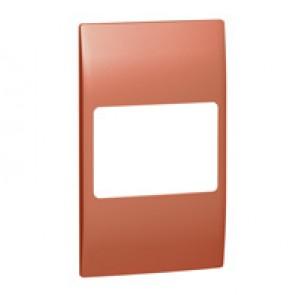 Plate Mallia - 2 gang vertical - copper