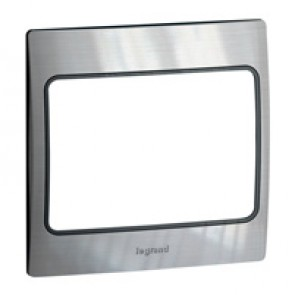 Plate Mallia - 1 gang - brushed stainless steel