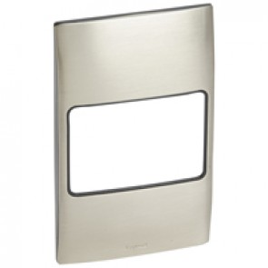 Plate Mallia - 2 gang vertical - brushed stainless steel