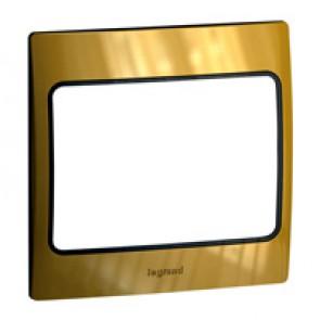 Plate Mallia - 1 gang - gold