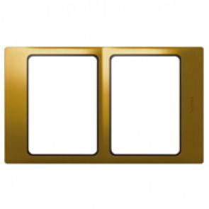 Plate Mallia - 2x1 gang - gold