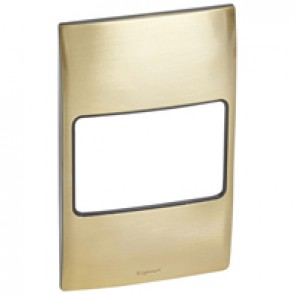 Plate Mallia - 2 gang vertical - gold