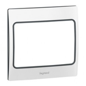 Plate Mallia - 1 gang - polished stainless steel