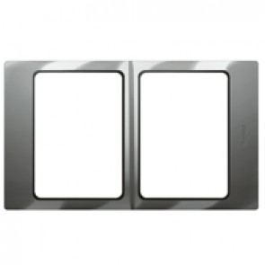 Plate Mallia - 2x1 gang - polished stainless steel