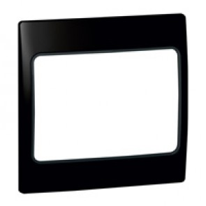 Plate Mallia - 1 gang - lacquered black
