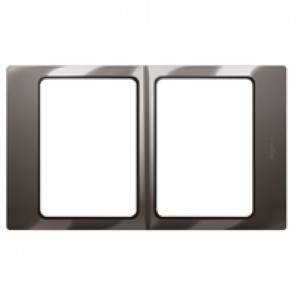 Plate Mallia - 2x1 gang - lacquered black