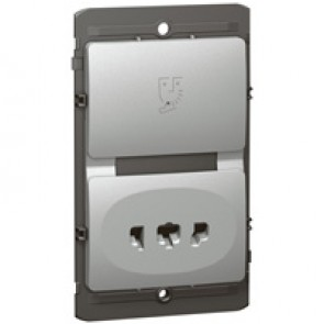 Shaver socket Mallia - 240 V / 120 V~ - 50/60 Hz - silver