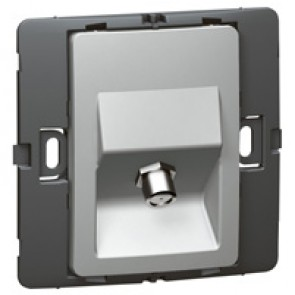 TV socket Mallia - female ''F'' type socket - silver