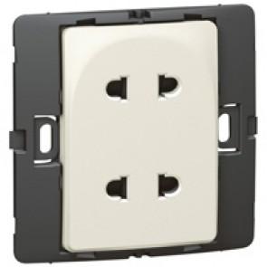 Socket outlet Mallia - Euro/US standard 10/16 A - 2P - 2 gang 250 V~ - pearl