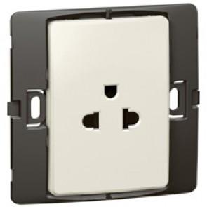 Socket outlet Mallia - Euro/US standard 10/16 A - 2P+E - 1 gang 250 V~ - pearl