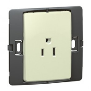 2P+E US standard socket outlet Mallia - 15 A-127 V - SASO agreement - 1 gang -pearl