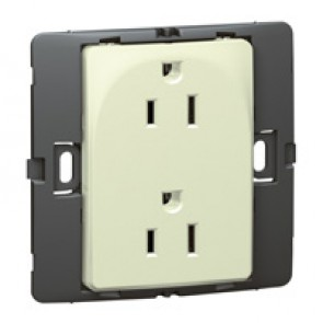 2P+E US standard socket outlet Mallia - 15 A-127 V - SASO agreement - 2 gang -pearl