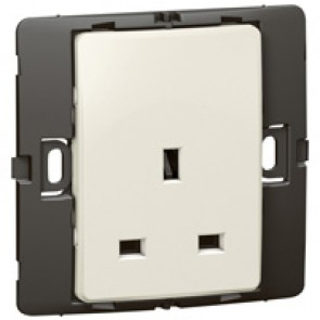 Socket outlet Mallia - unswitched - 1 gang - 13 A 250 V~ - pearl