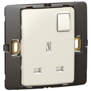 Socket outlet Mallia - switched - 1 gang - 13 A 250 V~ - pearl