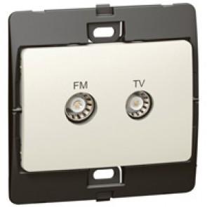 TV-R socket Mallia - pearl
