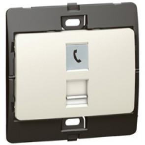 Telephone socket Mallia - RJ 11 - 4 contacts - pearl