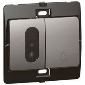 Push-button for hotel Mallia - do not disturb/clean up bell - dark silver