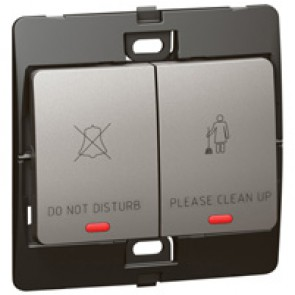Switch for hotel Mallia - do not disturb/clean up bell - dark silver