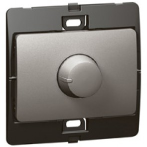 Dimmer Mallia - 60-500 W rotary control dimmer - dark silver