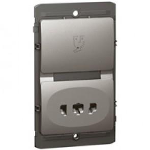 Shaver socket Mallia - 240 V / 120 V~ - 50/60 Hz - dark silver