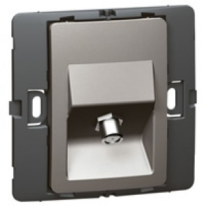 TV socket Mallia - female ''F'' type socket - dark silver