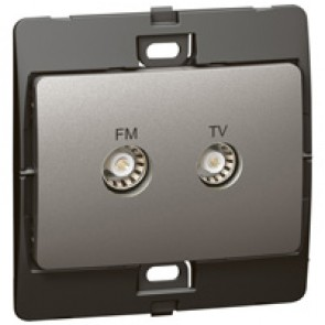 TV-R socket Mallia - dark silver
