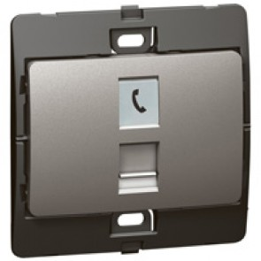 Telephone socket Mallia - RJ 11 - 4 contacts - dark silver