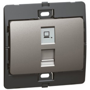 Data socket Mallia - RJ 45 - category 6 - UTP - dark silver
