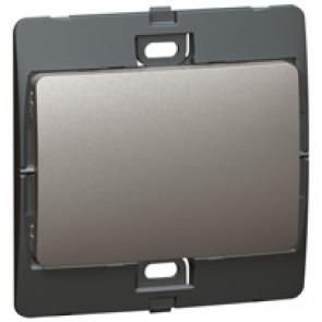 Blanking plate Mallia - 1 gang - dark silver