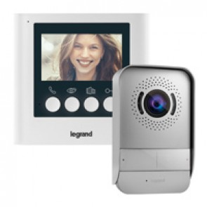 "Video door entry kit with 4.3"" colour display"