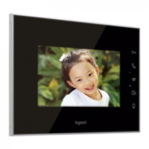 "Additional 7"" mirror effect LCD colour display for video door entry kit"