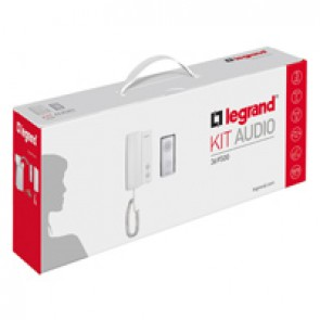 Complete ONE FAMILY audio door entry kit - 3-wires - handset
