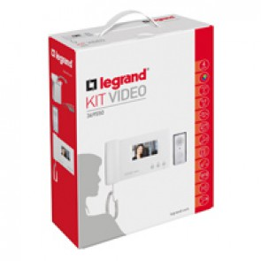 """Complete ONE FAMILY colour 4.3"""" video door entry kit - 4-wires - hands-free"""
