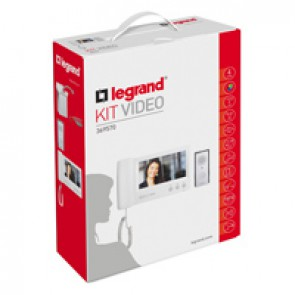 """Complete ONE FAMILY colour 7"""" video door entry kit - 4-wires - handset"""