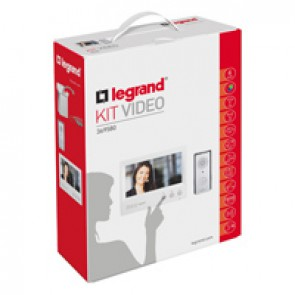 "Complete ONE FAMILY colour 7"" video door entry kit - 4-wires - hands-free"