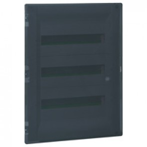 Flush-mounting cabinet Practibox³ - with earth - transparent door - 54 modules
