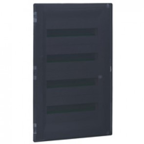 Flush-mounting cabinet Practibox³ - with earth - transparent door - 72 modules