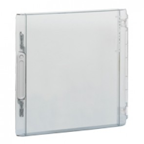 Door - for XL² 125 distribution cabinet Cat.No 4 016 77 - Transparent