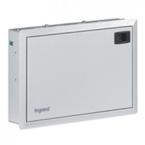 Flush-mounting box - 2 + 12 modules - Single-phase + neutral - Metal IP41 -Grey