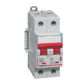 Remote trip head isolating switch DX-IS - visible load break - 2P 400 V~ - 40 A