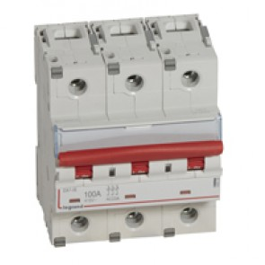 Remote trip head isolating switch DX-IS - visible load break - 3P 400 V~ - 100 A