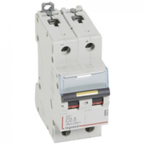MCB - DX³ - 16 kA - direct current - 12 V= to 500 V= - 2P - 0.5 A