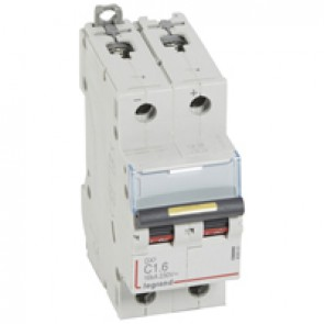 MCB - DX³ - 16 kA - direct current - 12 V= to 500 V= - 2P - 1.6 A