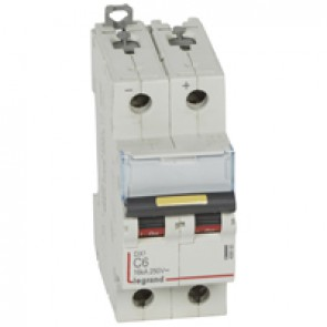 MCB - DX³ - 16 kA - direct current - 12 V= to 500 V= - 2P - 6 A